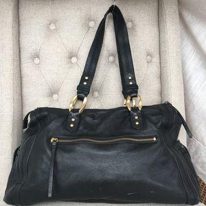 Sigrid Olsen Black Leather Shoulder Bag